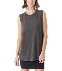 alternative apparel inside out garment dyed slub sleeveless women's t-shirt