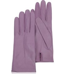 forzieri designer women's gloves, women's purple unlined italian leather gloves
