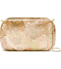 isla mother of pearl clutch - neutrals