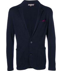 n.peal fine gauge milano jacket - blue
