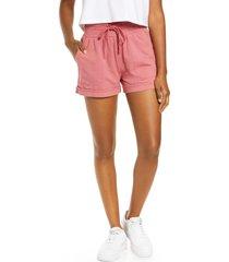 women's zella washed organic cotton shorts