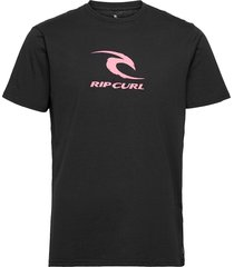icon used ss tee t-shirts short-sleeved svart rip curl