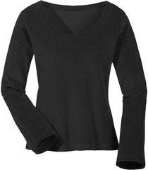 biokatoenen nicki shirt met ronde hals, zwart 44/46