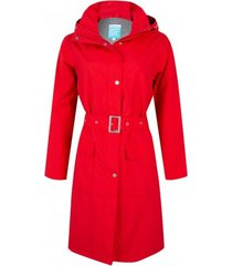 happyrainydays regenjas long coat rosa red-xs
