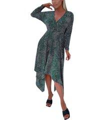 ax paris women's spotty handkerchief midi dress