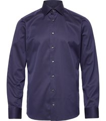 cambridge-collection-slim fit overhemd business blauw eton