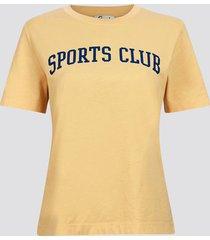 t-shirt i mjuk ekologisk bomull - gul