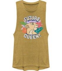 disney juniors' lion king future queen festival muscle tank top