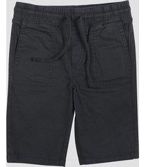 shorts i bomull - svart