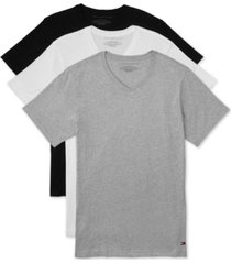 tommy hilfiger men's 3 pack slim-fit v-neck cotton undershirt