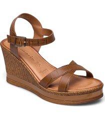 woms sandals sko wedge brun tamaris