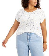 style & co plus size graphic print scoop neck t-shirt, created for macy's