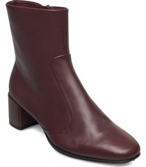 shape squared 35 shoes boots ankle boots ankle boot - heel brun ecco