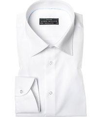 shirt john miller wit uni mouwlengte 7 tailored fit