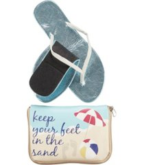 women's flipflats keep your feet in the sand foldable flats pouch, set of 2