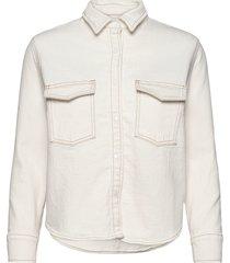 lmc shrunken dnm shirt 2 lmc e overhemd met lange mouwen crème levi's made & crafted