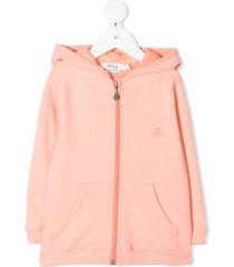 bonpoint zipped fleece sweatshirt - pink