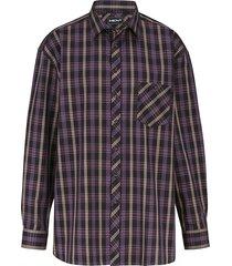 overhemd men plus cognac::berry::zwart