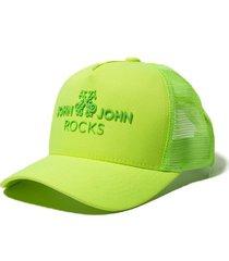 boné john john jj rocks lime amarelo neon feminino (amarelo neon, un)