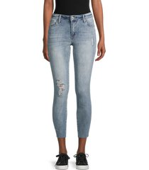 sts blue women's emma mid-rise cropped jeans - lannion - size 28 (4-6)