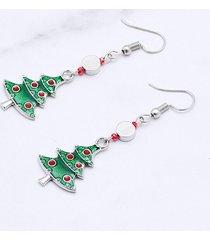 christmas tree party glazed drop earrings