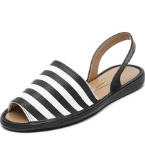 sandalia blanco/negro vizzano