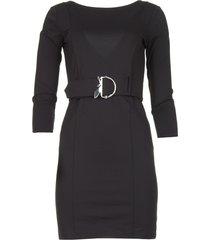 jurk met tailleriem colette  zwart