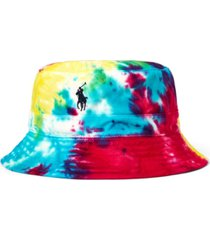 polo ralph lauren men's tie-dye chino bucket hat