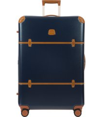 bric's bellagio 2.0 32-inch rolling spinner suitcase - blue