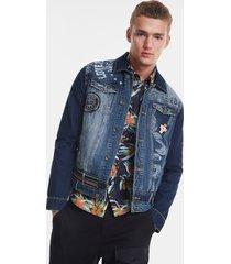 denim jacket messages - blue - xxl