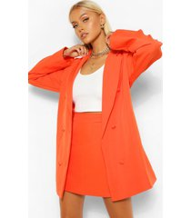 tailored long line oversized dad blazer, orange