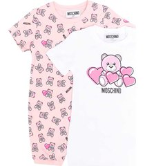 moschino pink rompers set