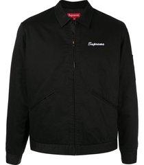 supreme playboy work jacket - black