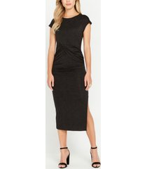 buffalo david bitton bon chic side shirring maxi dress