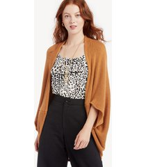 women's waffle knit cocoon wrap kimono camel one size from sole society