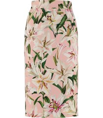 dolce & gabbana cady pencil skirt