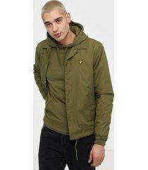 lyle & scott coach jacket jackor green