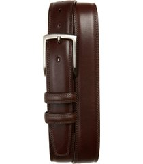 men's torino kipskin leather belt, size 46 - brown