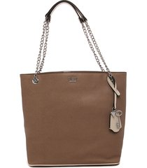 bolso beige guess