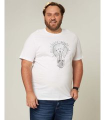 camiseta good ideas em meia malha wee! branco - m