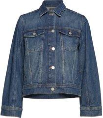 alia jacket jeansjacka denimjacka blå wood wood