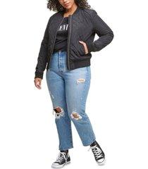 levi's plus size trendy diamond quilted bomber jacket