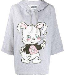 moschino don't call me cute hoodie - grey