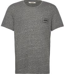 ted cv blason tee-shirt print flock devant t-shirts short-sleeved grå zadig & voltaire