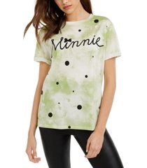 disney juniors' cotton tie-dyed minnie t-shirt
