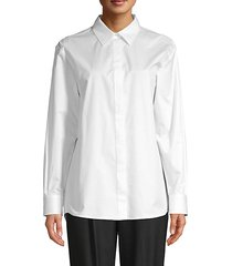 beeka crisp stretch-cotton blouse