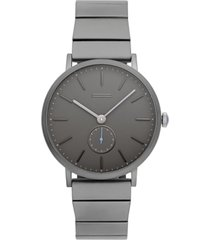 uri minkoff men's norrebro gray stainless steel bracelet watch 40mm
