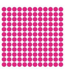 adesivo de parede bolinhas rosa pink 144un