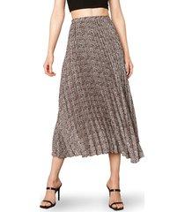 women's bb dakota wild out animal print pleated skirt