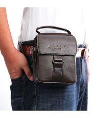 borsa di lusso di affari del sacchetto di vita del cuoio genuino borsa a doppio uso per gli uomini